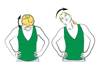 Фото: Правильные упражнения при грыже шейного отдела