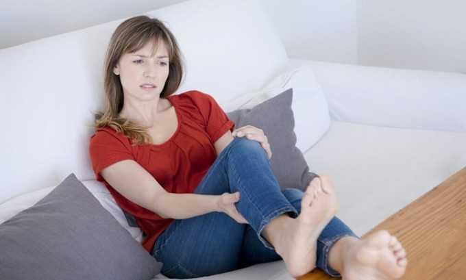 При пережатии вены бедра возникает отек ноги