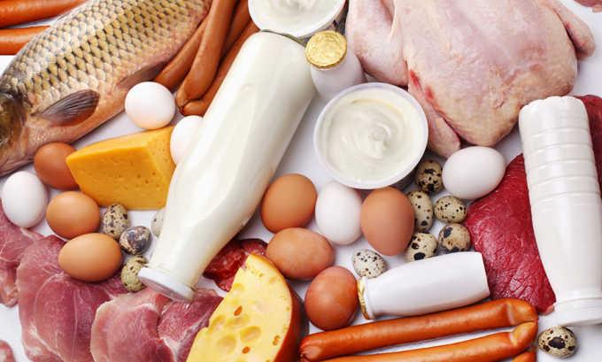 При наличии межпозвоночной грыжи рекомендуется включить в ежедневный рацион белковую пищу животного происхождения и молочные продукты