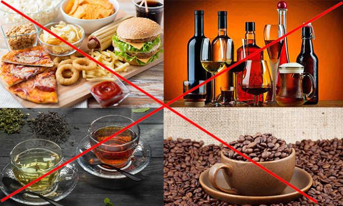 В послеоперационный период нужно отказаться от вредной пищи, алкоголя, полуфабрикатов, количество выпитого зеленого, черного чая и кофе нужно сократить