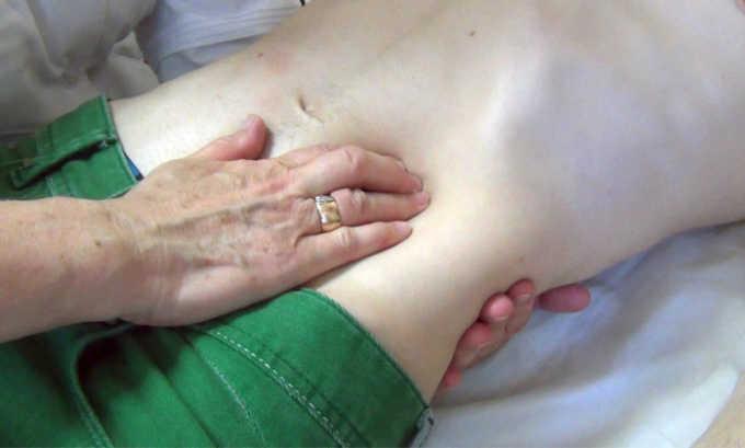 Один из методов диагностики это пальпация
