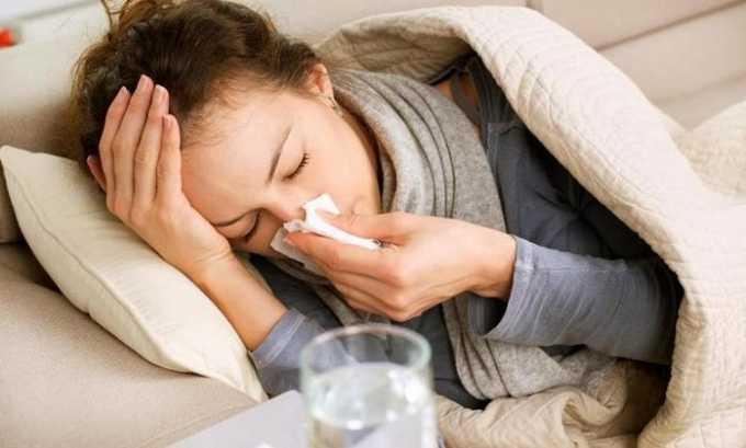 Также болезнь может развиться из-за наличия у беременной респираторных недугов