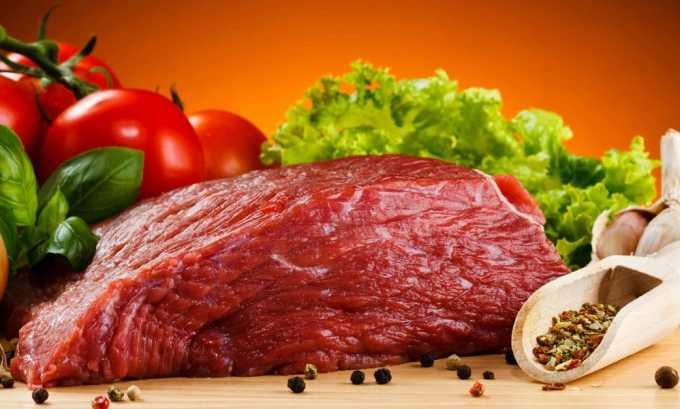 В рационе больного должно быть большое количество белковой пищи, поскольку организм в это время нуждается в аминокислотах