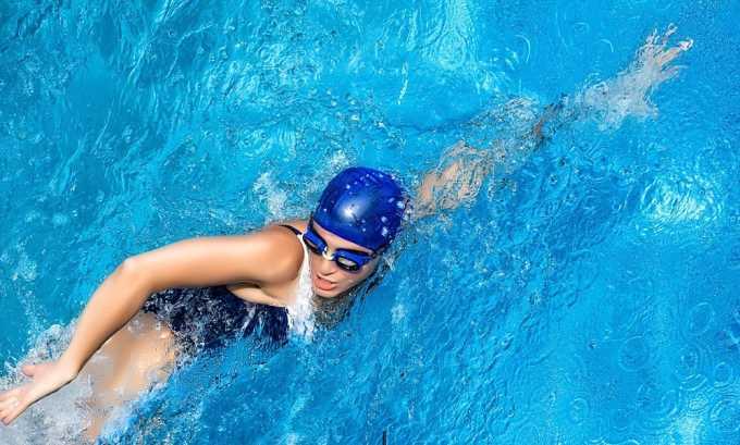 К разрешенным видам физической активности относят также плавание