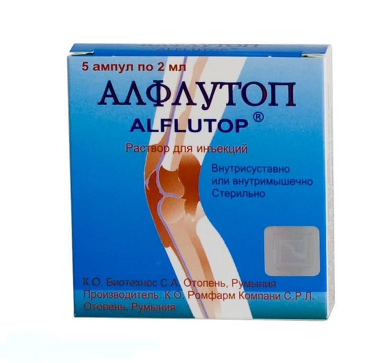 Фото: Алфлутоп для лечения позвоночной грыжи