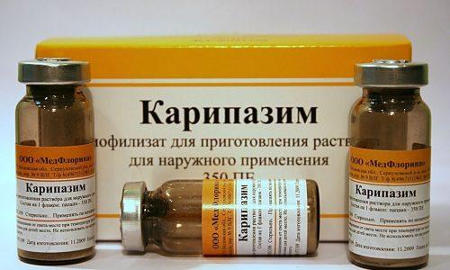 Карипазим при грыже позвоночника воздействует на грыжу, размягчая ее и способствуя высвобождению защемленных корешков нервов