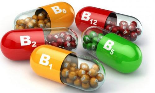 Комплексы витаминов группы В, снимающие мышечный спазм и способствующие восстановлению тканей ущемленных нервов и улучшению проводимости импульсов